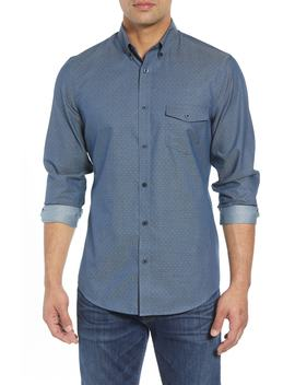 Regular Fit Dobby No Iron Sport Shirt by Nordstrom Men's Shop