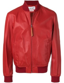 Bomber Leather Jacket by Loewe