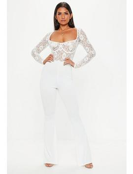 White Lace Cupped Jumpsuit by Missguided