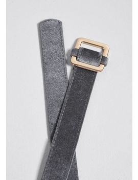 Elevated Accent Velvet Belt by Compania Fantastica