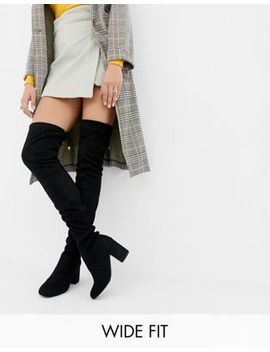 Asos Design Wide Fit Birdie Over The Knee Boots by Asos Design