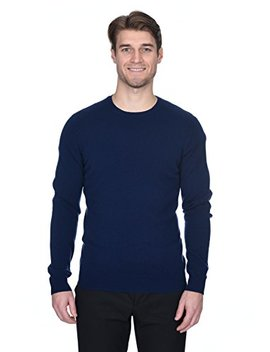 State Fusio Men's Cashmere Wool Long Sleeve Pullover Crew Neck Sweater Premium Quality by State Fusio