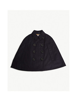Spencer Wool Cape M L by Burberry