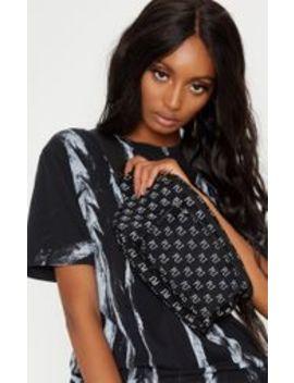 Plt Black Faux Suede Logo Bum Bag by Prettylittlething