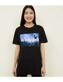 Black Disney Mary Poppins T Shirt by New Look