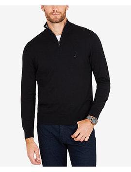 Men's Classic Fit Half Zip Sweater by Nautica
