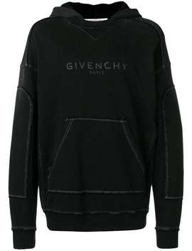Blurred Givenchy Distressed Hoodie by Givenchy