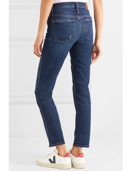 The Slim Distressed High Rise Jeans by Madewell