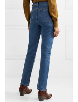 Standard High Rise Straight Leg Jeans by A.P.C. Atelier De Production Et De Création