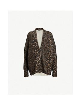 Leopard Wool Blend Cardigan by Allsaints