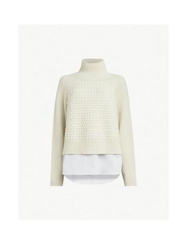 Jones Shirt Detail Wool Blend Sweater by Allsaints