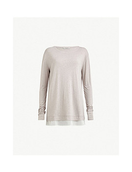 Miro Long Sleeved Knitted T Shirt by Allsaints