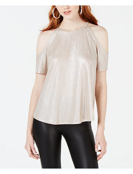 Juniors' Shine Cold Shoulder Top, Created For Macy's by Material Girl