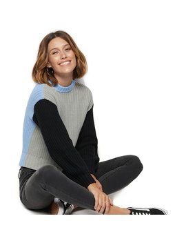 Women's Popsugar Colorblock Crewneck Sweater by Kohl's