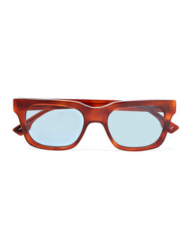 Fellini Square Frame Tortoiseshell Acetate Sunglasses by Le Specs