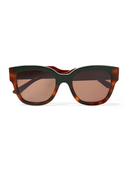 Cromo Cat Eye Tortoiseshell Acetate Sunglasses by Marni