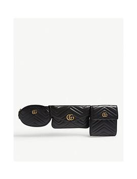 Gg Marmont Matelassé Leather Multi Belt Bag by Gucci