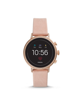 Montre Intelligente Gen 4 – Fossil Venture Hr En Cuir Rose Poudré by Fossil