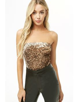 Velvet Leopard Tube Bodysuit by Forever 21