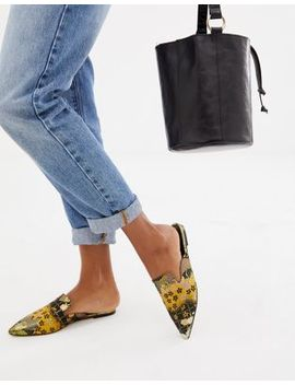 Asos Design Lucca Pointed Mule Ballet Flats by Asos Design