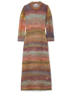 Striped Open Knit Midi Dress by Acne Studios