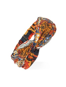 Ornate Print Twist Front Headwrap by Forever 21