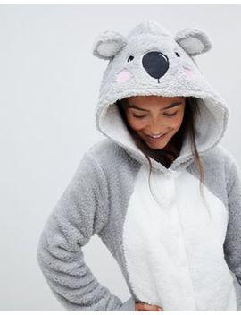 Asos Design Lounge Koala Hooded Onesie With Ears by Asos Design