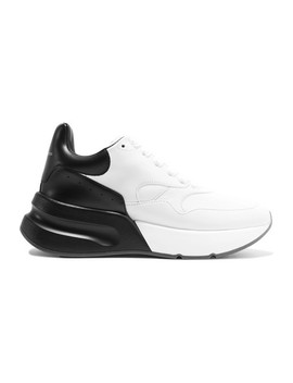 Two Tone Leather Exaggerated Sole Sneakers by Alexander Mc Queen