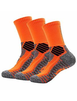 Deyuan Elite Basketball Socks, Cushioned Athletic Thick Crew Socks, Sports Performance Compression Socks For Men & Women by Deyuan