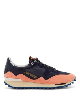 Starland Suede Raised Sole Low Top Trainers by Golden Goose Deluxe Brand