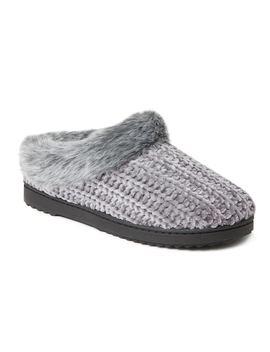 Women's Dearfoams Chenille Knit Clog Slippers by Kohl's