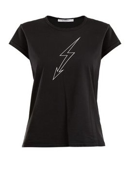 Lightning Bolt Print Cotton T Shirt by Givenchy