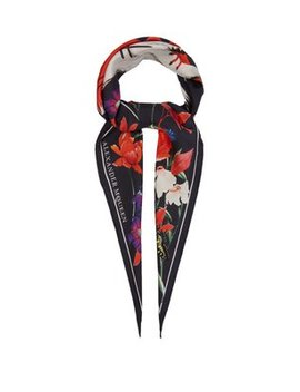 Garden Print Silk Scarf by Alexander Mc Queen