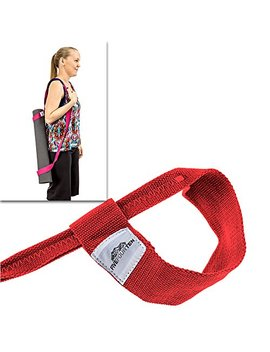 Five Four Ten Yoga Mat Strap For Carrying Yoga Mats Of Any Kind & Size. Replaces Yoga Mat Bags And Prevents Bacteria Growth by Five Four Ten