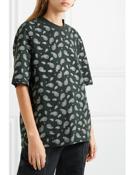 Heavy Mei Oversized Embroidered Printed Cotton Jersey T Shirt by Kith