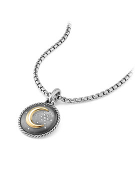 Moon & Star Two Tone Diamond Amulet by David Yurman