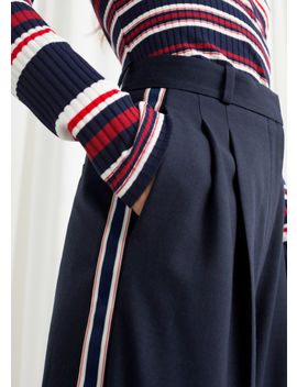 Wide Racer Stripe Trousers by & Other Stories