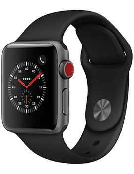 AppleWatch Series3 Gps+Cellular, 38mm Space Gray Aluminum Case With Black Sport Band by Apple Watch