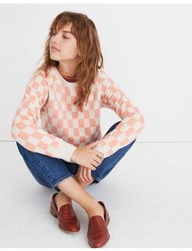 Checkerboard Shrunken Sweatshirt by Madewell