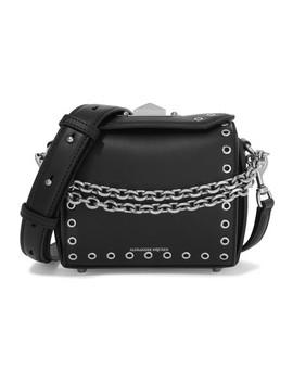 Box Bag 19 Embellished Leather Shoulder Bag by Alexander Mc Queen