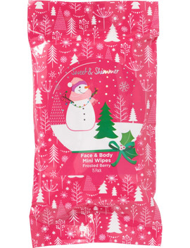 Frosted Berry Face & Body Mini Wipes by Sweet & Shimmer