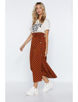 Hey Little Dotty Midi Skirt by Nasty Gal
