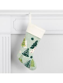 Felted Wool Trees Holiday Stocking by World Market