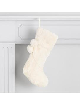 Diamond Faux Fur Holiday Stocking by World Market