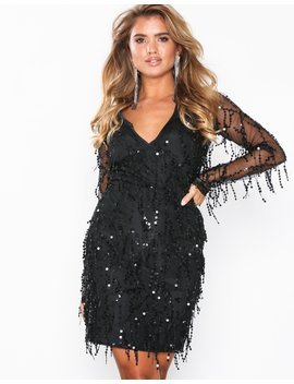 Sequin Fringe Dress by Nly Eve