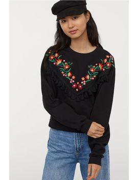 Sweatshirt Med Broderier by H&M