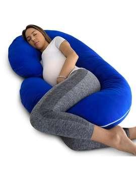 Phar Me Doc Full Body Pregnancy Pillow With Blue Jersey Cover by Phar Me Doc