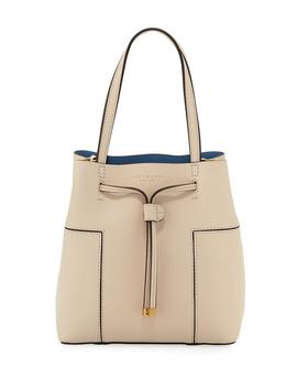 Block T Small Bucket Bag by Tory Burch