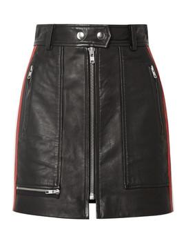 Alynne Striped Leather Mini Skirt by Isabel Marant Étoile