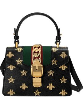 Small Sylvie Top Handle Leather Shoulder Bag by Gucci